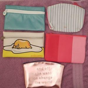 5 Ipsy makeup bags (empty)